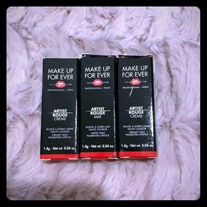 MINI MAKEUP FOREVER Artist Rouge Lipstick-Set of 3